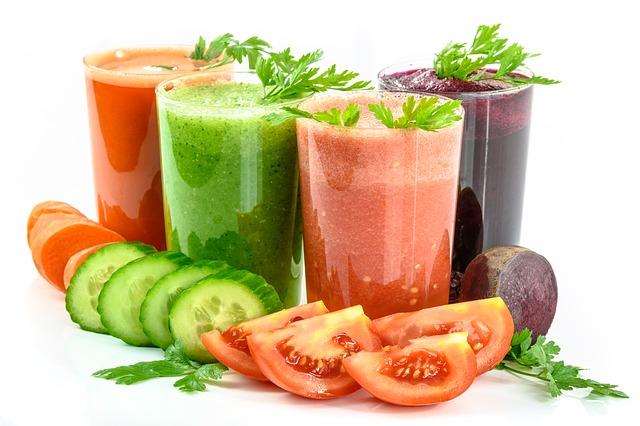 zdrowe soki warzywne z sokowirówki